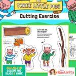 Three Little Pigs Cutting Skills Activity