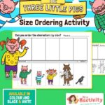 Three Little Pigs Size Ordering Activity