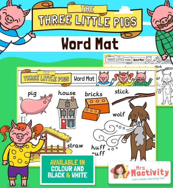 Three Little Pigs Word Mats