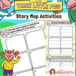 three little pigs story map worksheet
