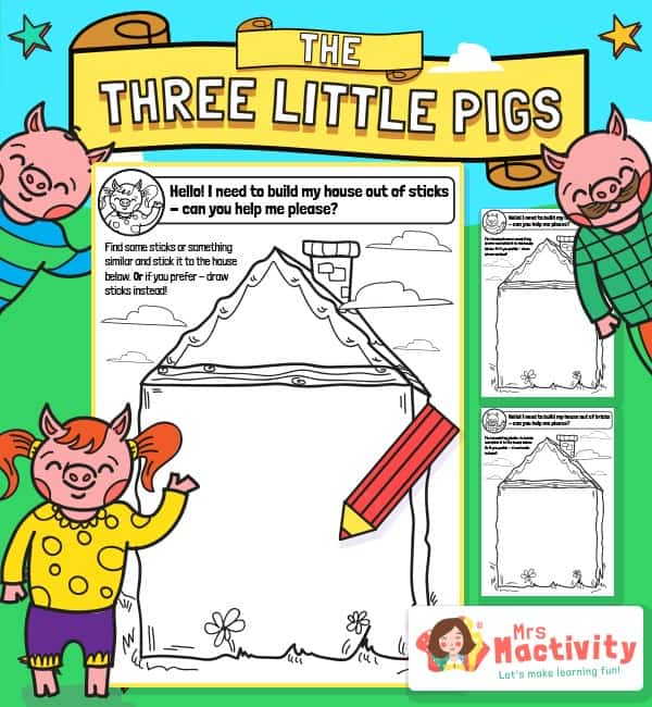 Three Little Pigs House Materials Activity