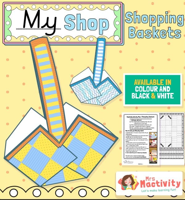 Shop Role-Play Foldable Shopping Baskets