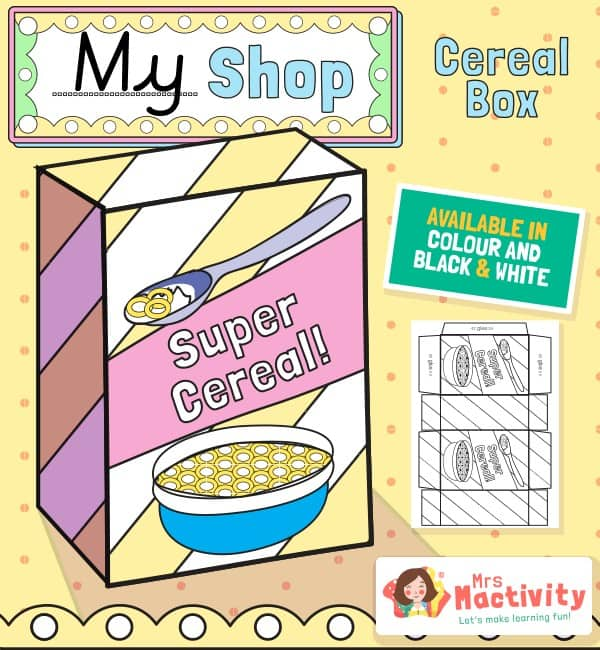 Shop Role-Play Foldable Cereal Boxes
