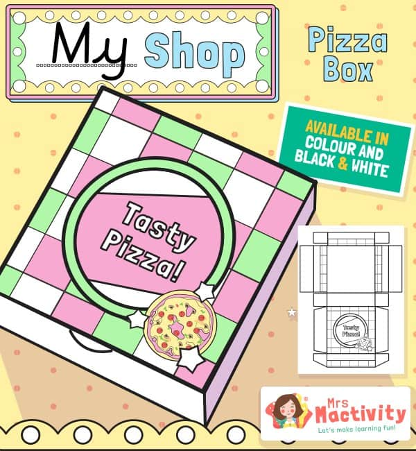 Shop Role-Play Foldable Pizza Takeaway Boxes