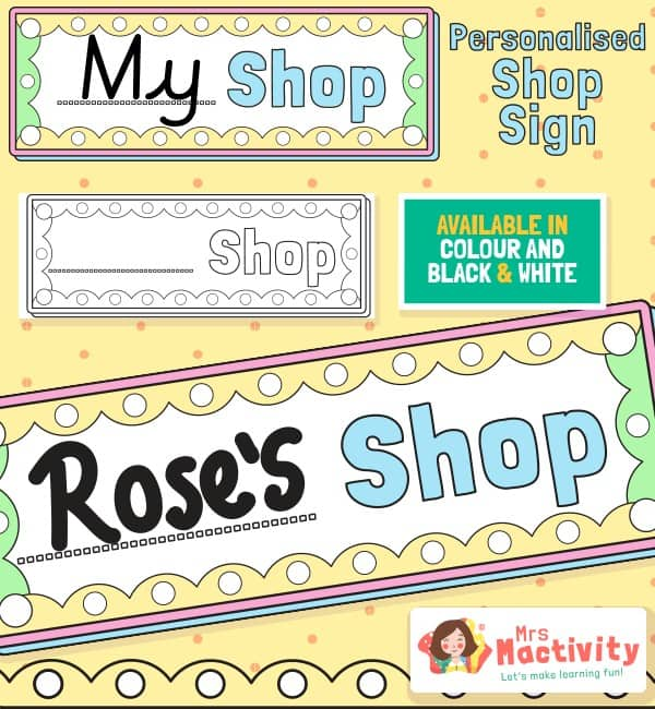 Shop Role-Play Shop Name Sign