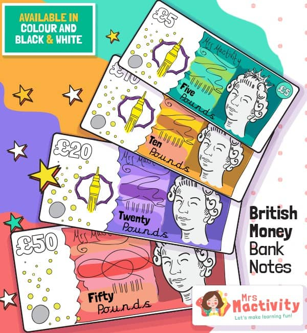 Shop Role-Play British Play Money