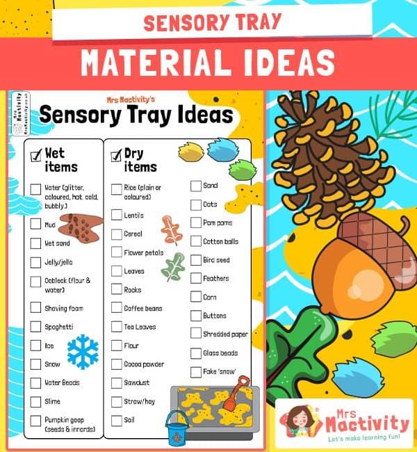 Sensory Tray Checklist