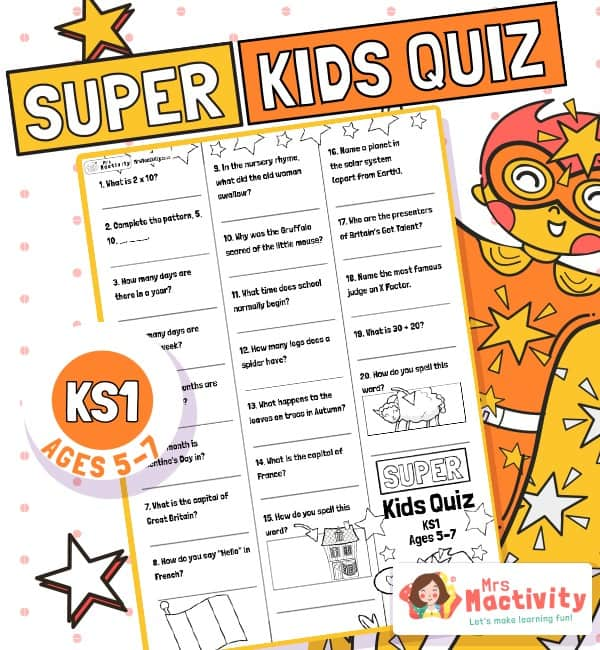 Age 5-7 (KS1) Kids' Quiz