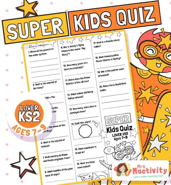 Age 7-9 (LKS2) Kids' Quiz