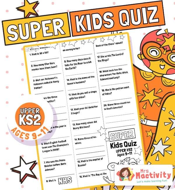 Age 9-11 (UKS2) Kids' Quiz