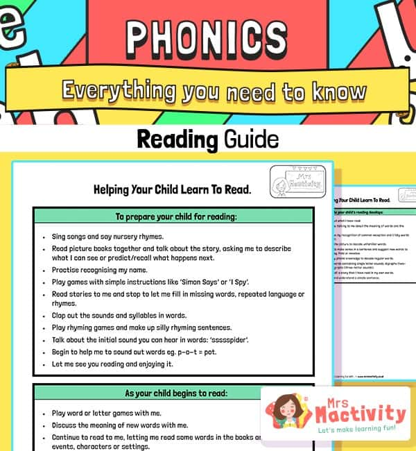 How to Help Your Child Learn to Read - Parents' Guide