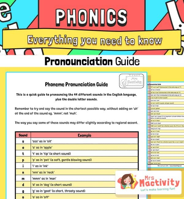 Parents' Phonics Pronunciation Guide