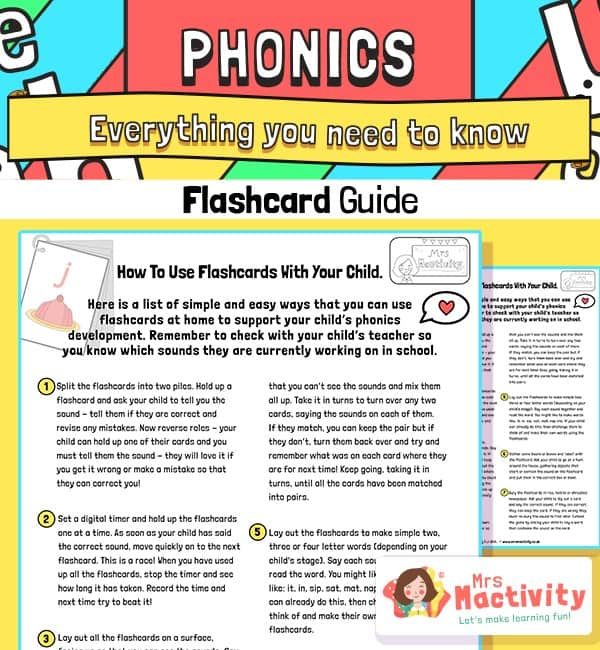 How to Use Phonics Flashcards With Your Child