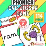Phase 2 Phonics (Age 4-5) CVC Jigsaw Game
