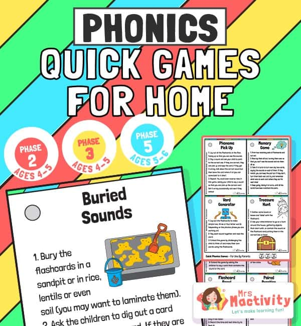 Home Learning Phonics Quick Games