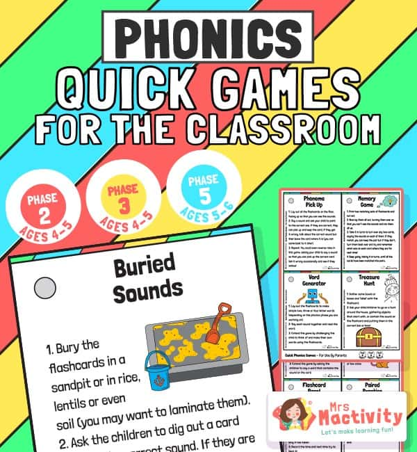Phase 2, 3 and 5 Phonics Quick Games