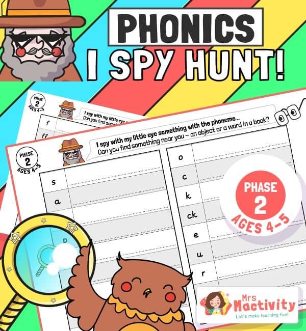 Phase 2 Phonics (Age 4-5) I Spy Hunt Activity