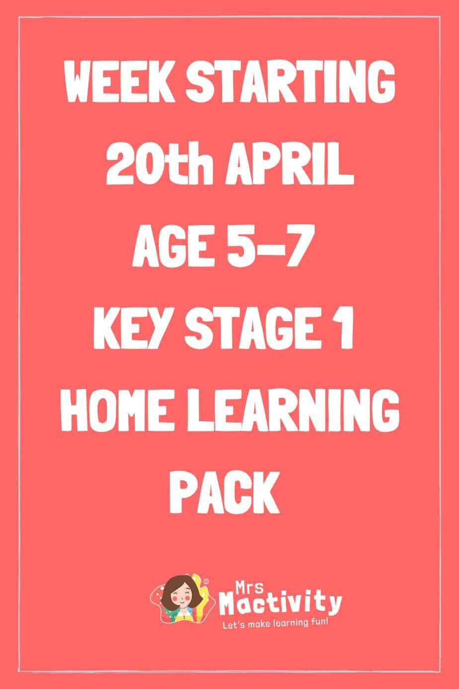 20th April Early Years (Age 5-7) Weekly Home Learning Pack