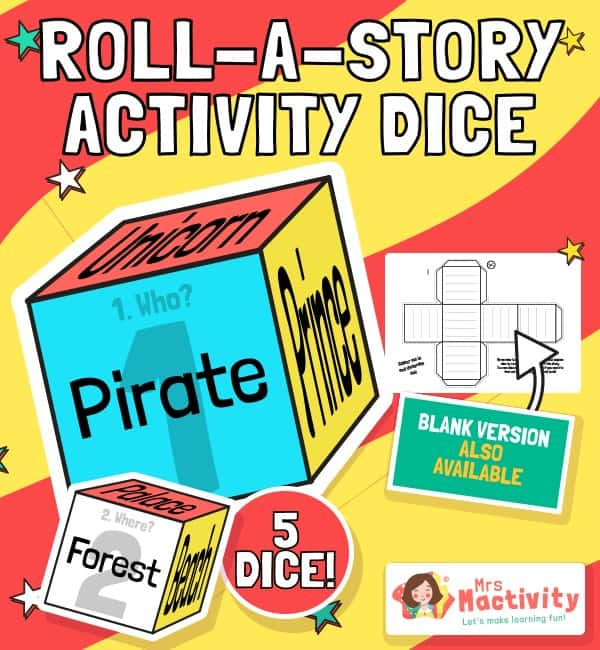 Roll a Story Activity Dice