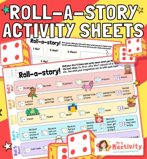 Roll a Story Activity Sheets
