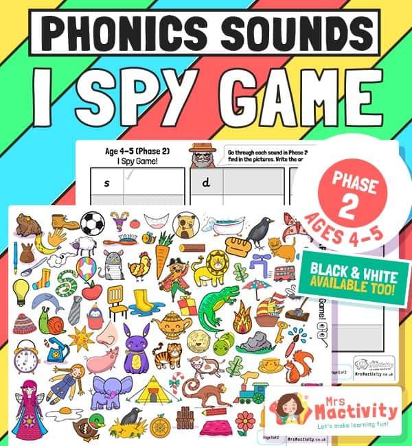 Phase 2 phonics I spy game