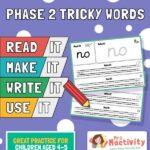 phase 2 tricky words read it make it write it use it