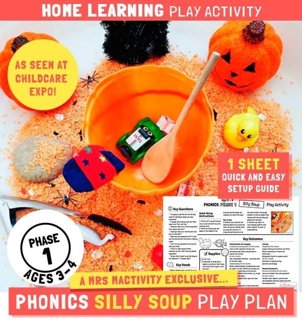 Home Learning Phase 1 Phonics Silly Soup Play Activity