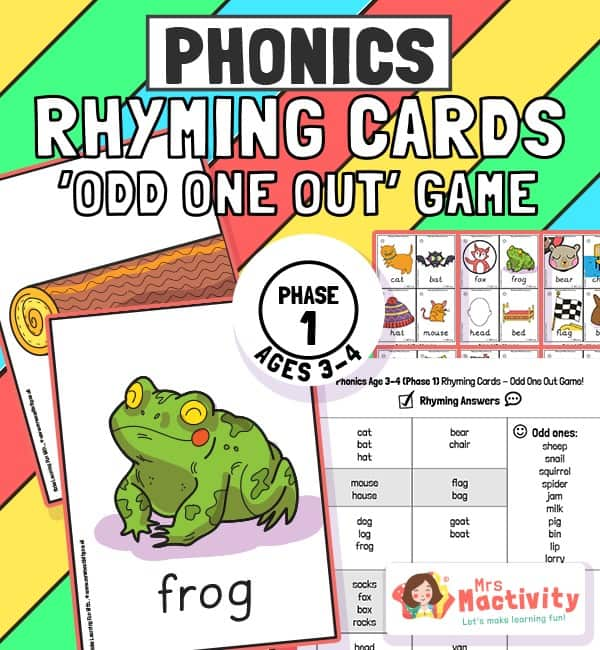 Phase 1 Phonics Odd One Out Game