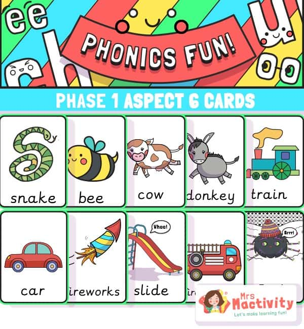 These are brilliant for helping children to understand different environmental sounds to get them ready for phonics and letter learning.