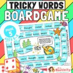 Phase 5 Tricky Words Board Game