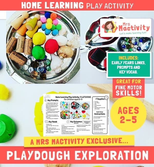 playdough activity ideas