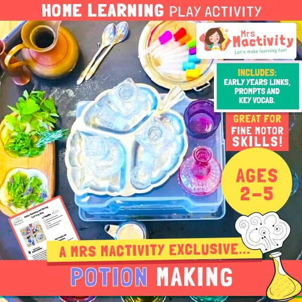 Aged 2-5 Home Learning Potion Making Play Activity