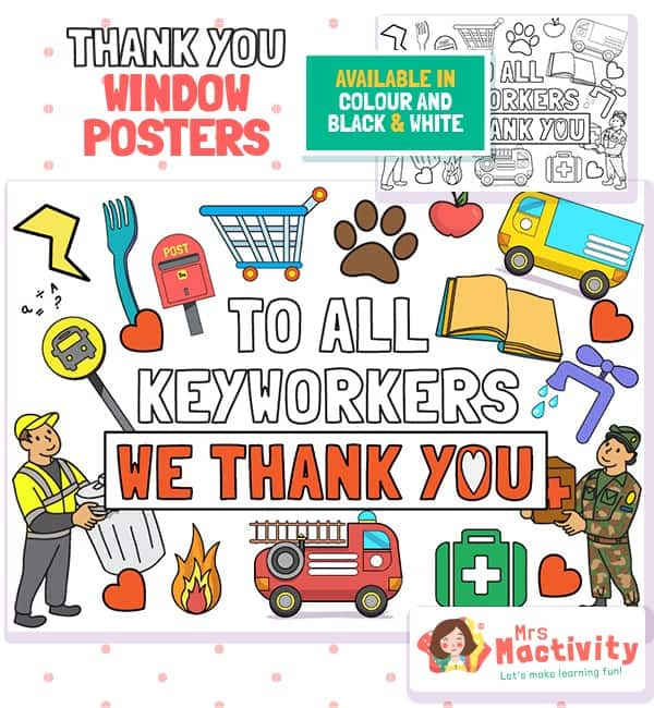 Key Workers Thank You Posters