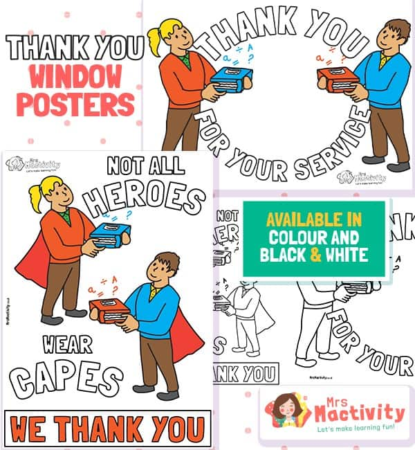 Teachers Thank You Posters