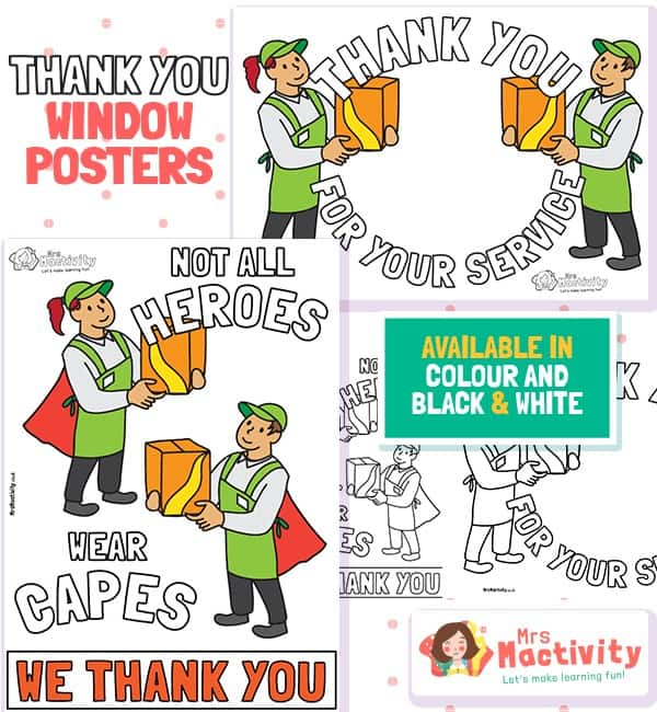 Retail Workers Thank You Posters