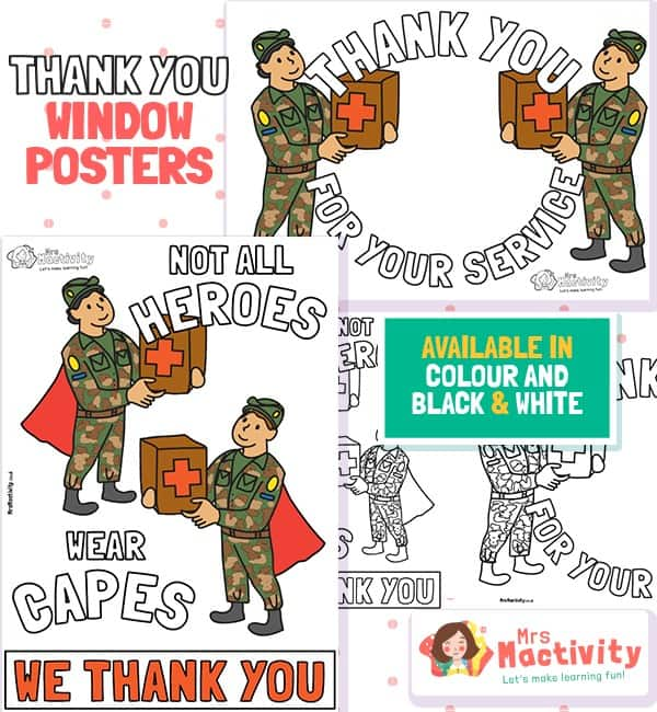 Troops Thank You Posters