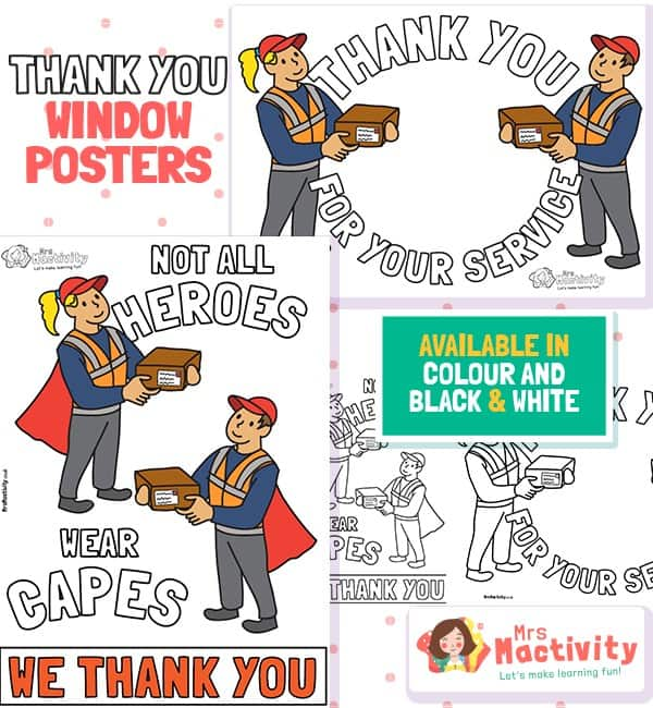 Delivery Drivers Thank You Posters