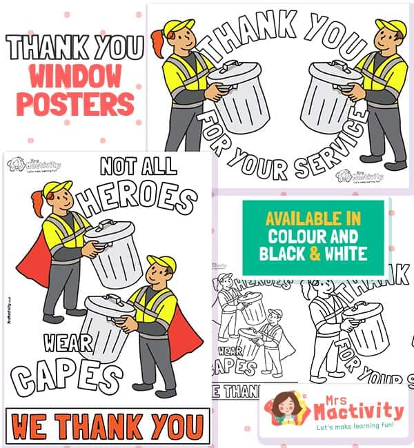 Bin Workers Thank You Poster