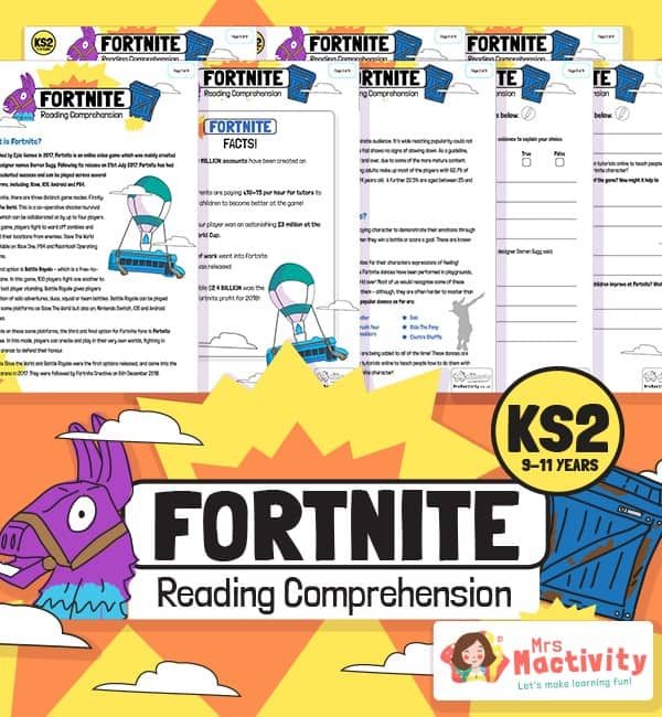 KS2 Fortnite Reading Comprehension