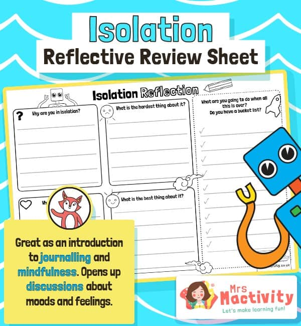 Isolation Reflective Review Sheet
