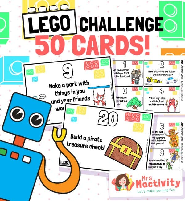50 Lego challenge cards