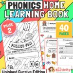 Unjoined cursive phonics phase 2 booklet