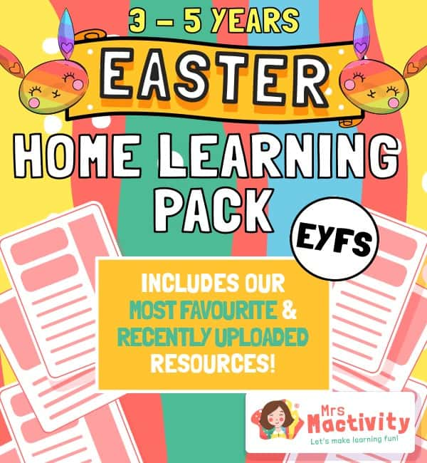 3-5 (EYFS) Easter Home Learning Resource Pack