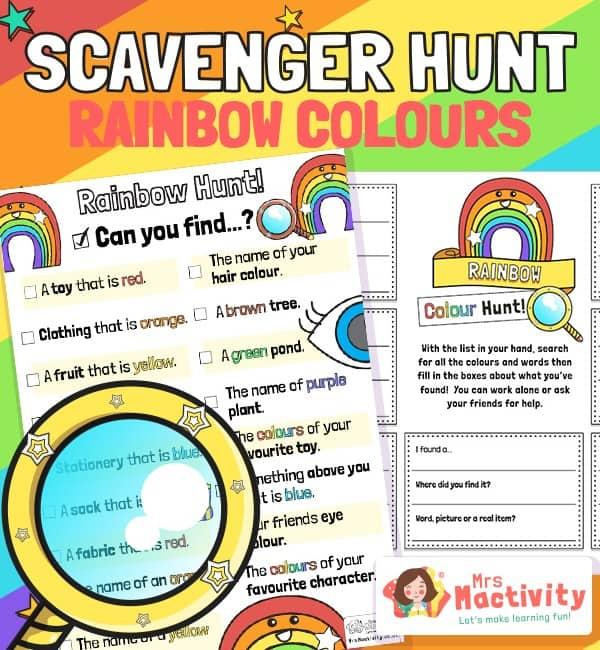 Rainbow Scavenger Hunt