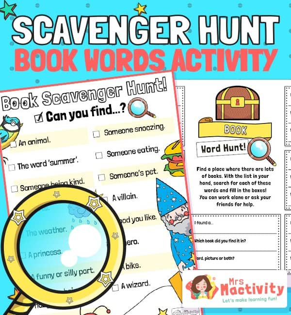 world book day book scavenger hunt