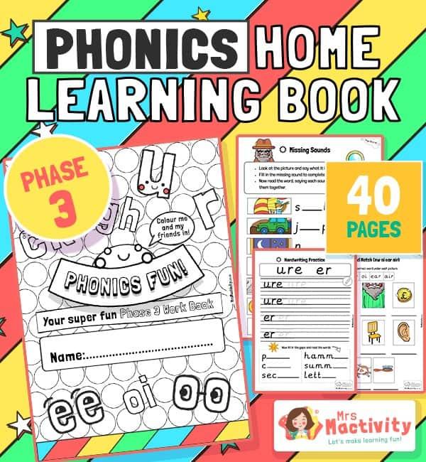 Age 4-5 Phonics Booklet (Phase 3)