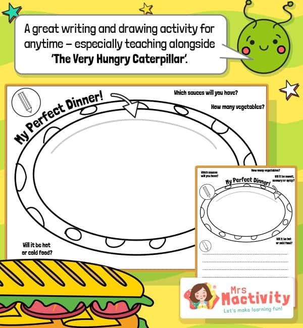 Very Hungry Caterpillar Perfect Dinner Activity