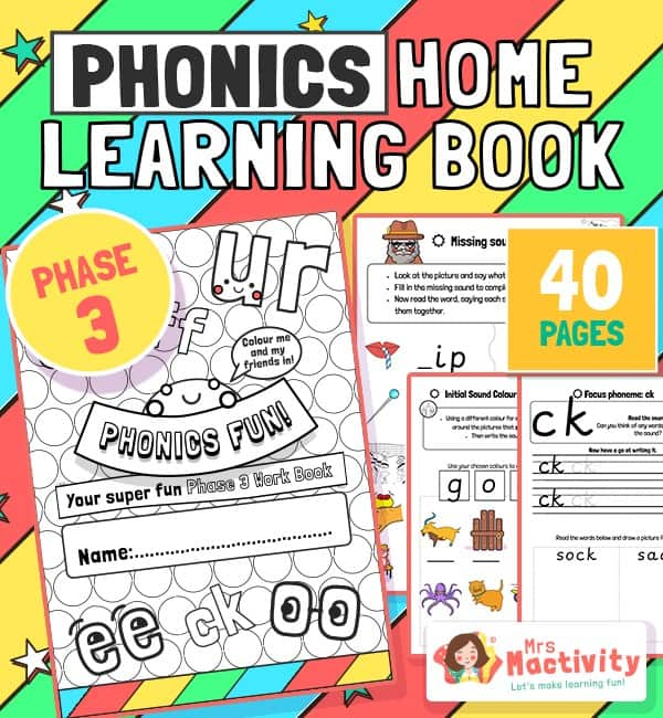 Age 4-5 Phonics Booklet (Phase 3)