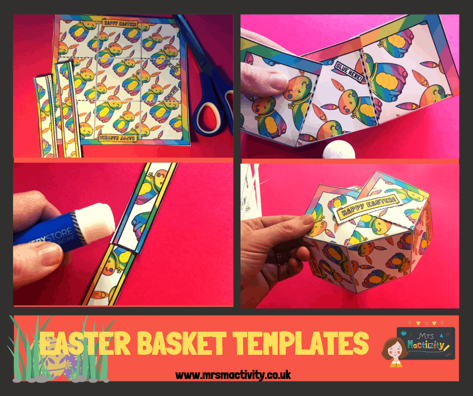How to Make Easter Baskets out of Paper