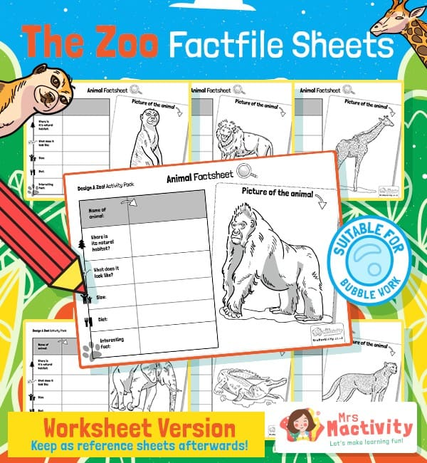Animal Fact File Sheets
